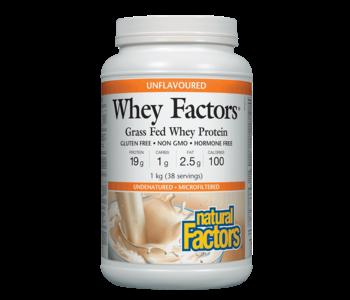 Natural Factors - Whey Factors - Unflavoured - 1kg