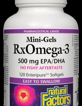 Natural Factors Natural Factors - RxOmega-3 - Mini Gels 500mg - 120 SG