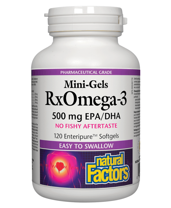 Natural Factors - RxOmega-3 - Mini Gels 500mg - 120 SG