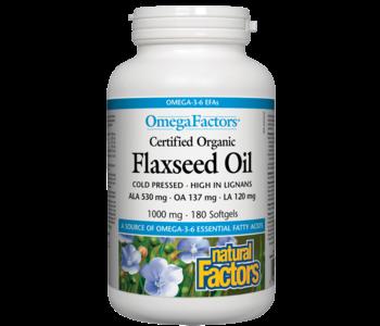 Natural Factors - Flaxseed Oil 1000 mg - 180 SG