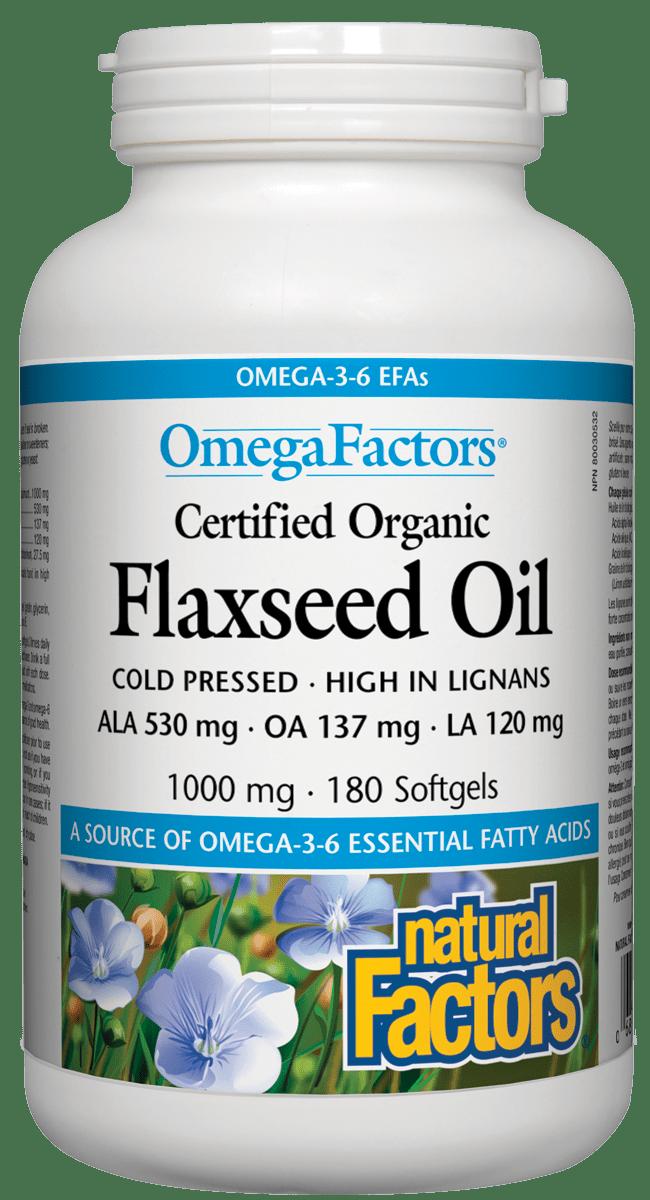 Natural Factors Natural Factors - Flaxseed Oil 1000 mg - 180 SG