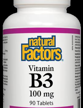 Natural Factors Natural Factors - Vitamin B3 100mg - 90 Tabs