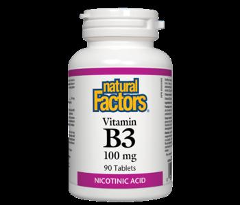 Natural Factors - Vitamin B3 100mg - 90 Tabs