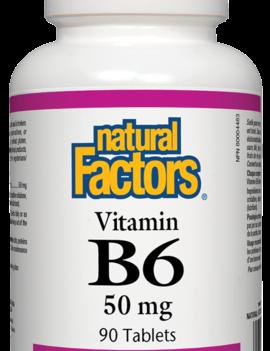 Natural Factors Natural Factors - Vitamin B6 50 mg - 90 Tabs