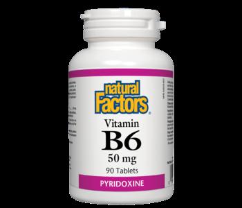 Natural Factors - Vitamin B6 50 mg - 90 Tabs