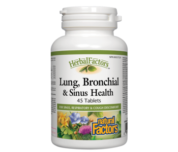 Natural Factors - Lung, Bronchial & Sinus Health - 45 Caps