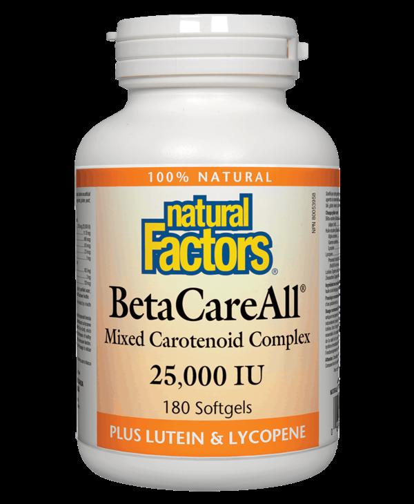 Natural Factors - BetaCareAll  25,000 IU - 180 SG