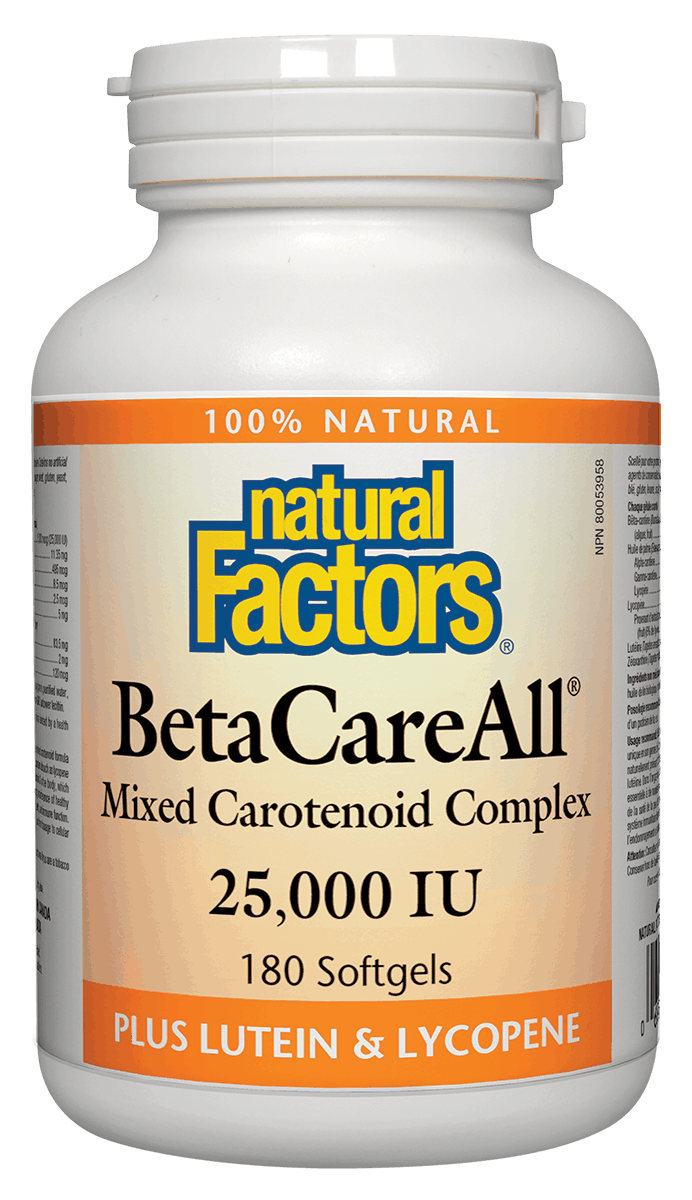 Natural Factors Natural Factors - BetaCareAll  25,000 IU - 180 SG