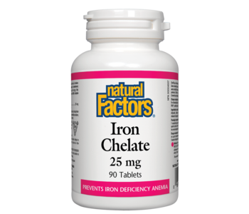 Natural Factors - Iron Chelate - 90 Tabs
