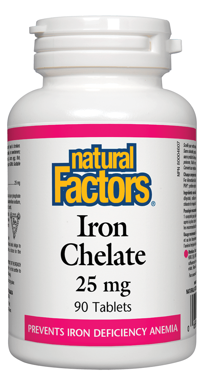 Natural Factors Natural Factors - Iron Chelate - 90 Tabs
