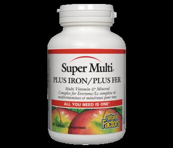 Natural Factors - Super Multi Plus Iron - 90 Tabs