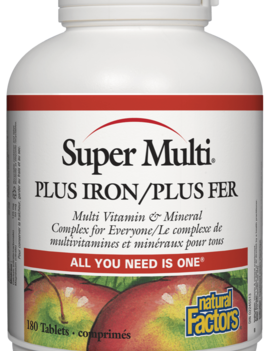 Natural Factors Natural Factors - Super Multi Plus Iron - 180 Tabs