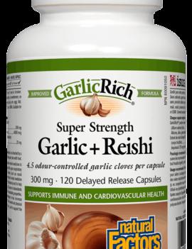 Natural Factors Natural Factors - GarlicRich - Garlic + Reishi - 120 Caps