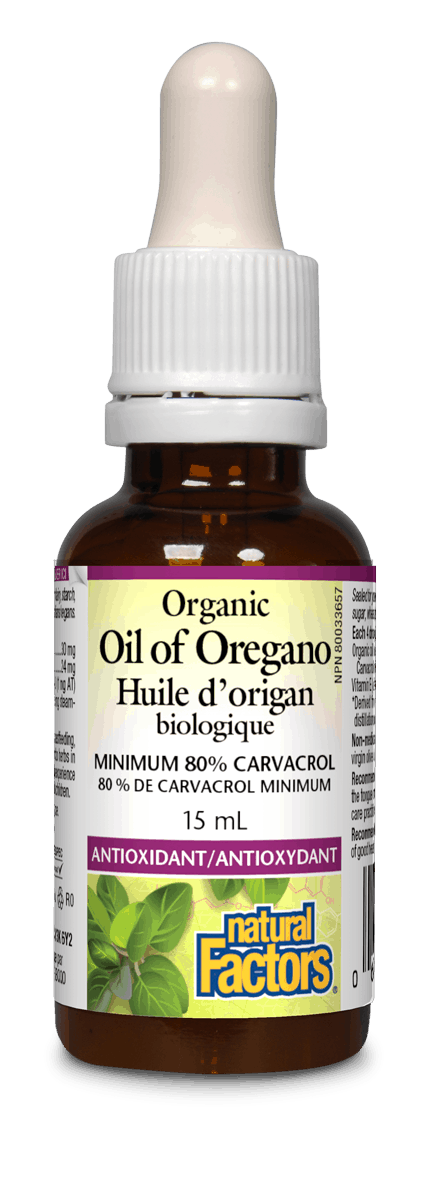 Natural Factors Natural Factors - Oil of Oregano - Organic - 15ml