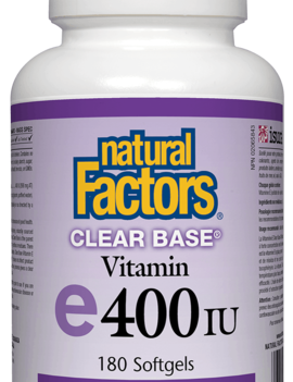 Natural Factors Natural Factors - Vitamin E - Clear Base 400 UI - 180 SG