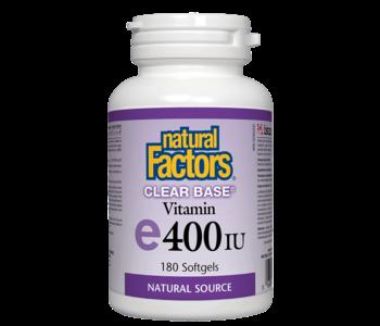 Natural Factors - Vitamin E - Clear Base 400 UI - 180 SG