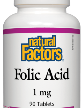 Natural Factors Natural Factors - Folic Acid 1 mg - 90 Tabs