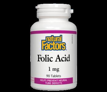 Natural Factors - Folic Acid 1 mg - 90 Tabs