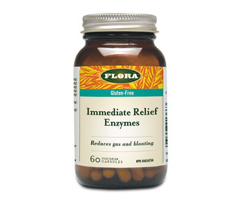 Flora - Immediate Relief Enzymes - 60 Caps
