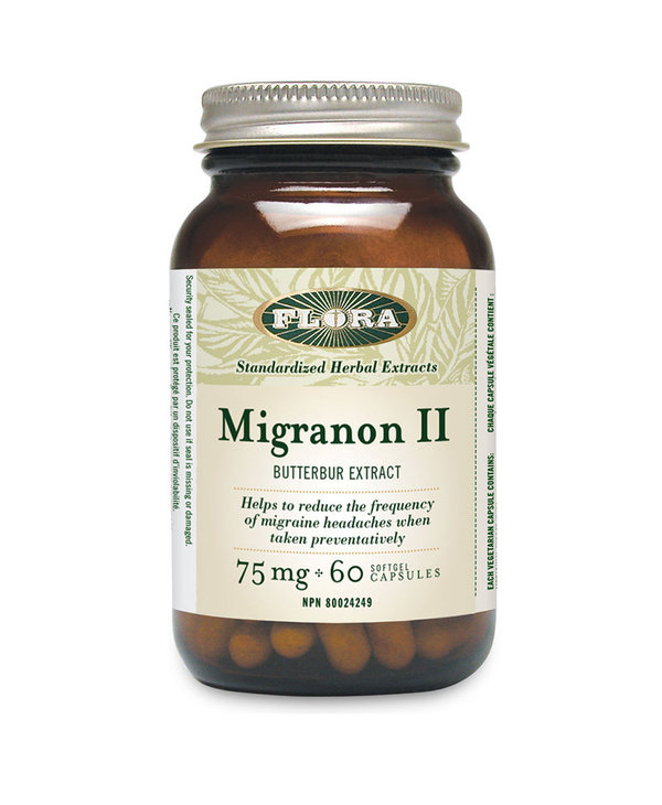 Flora - Migranon II ButterBur Extract - 60 Caps