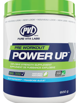 PVL - Pure Vita Labs PVL - Pre Workout Power Up - Blue Raspberry - 20g