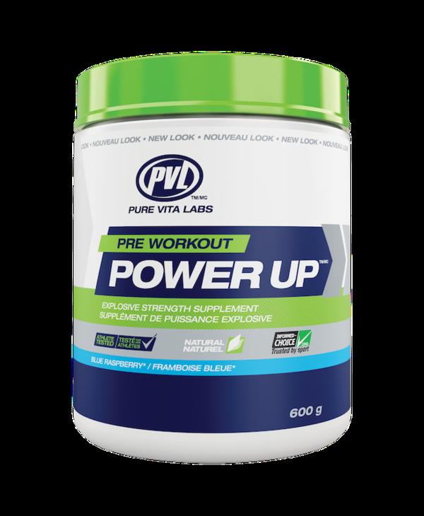 PVL - Pre Workout Power Up - Blue Raspberry - 20g