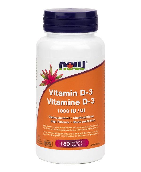 Now - Vitamin D3 1000 IU - 180 SG
