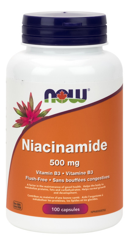 Now Now - Niacinamide 500 mg - 100 Caps