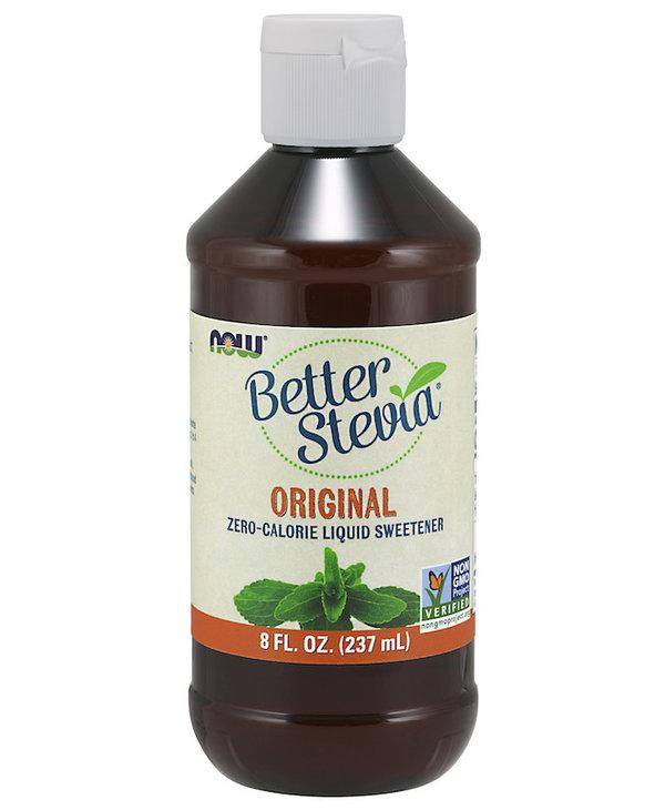 Now - BetterStevia - Liquid Sweetener - Glycerite Alcohol-Free - 237mL