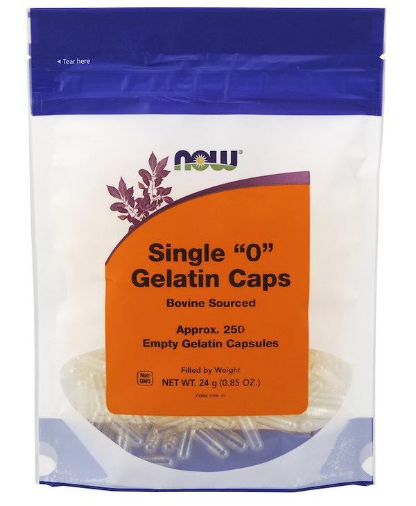 Now - Gelatin Caps '0' - 250 Empty