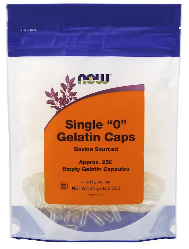 Now Now - Gelatin Caps '0' - 250 Empty
