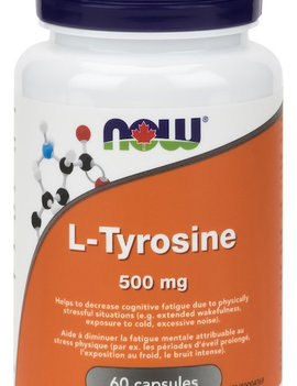Now Now - L-Tyrosine 500mg - 60 Caps