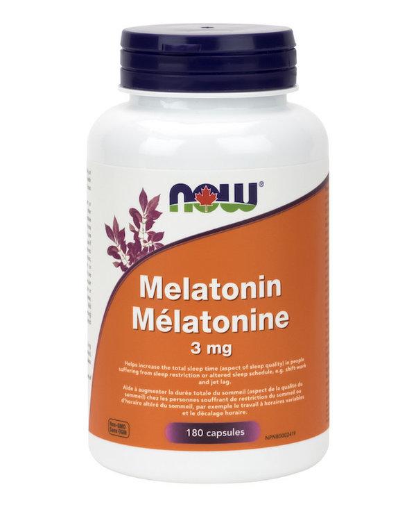Now - Melatonin 3mg - 180 V-Caps