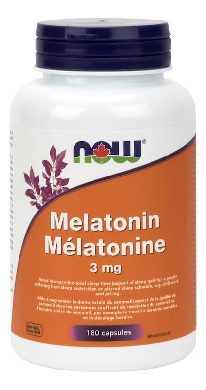 Now Now - Melatonin 3mg - 180 V-Caps