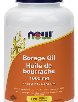 Now Now - Borage Oil 1000 mg - 120 SG