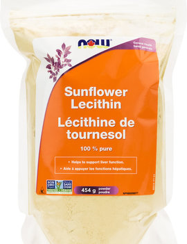 Now Now - Sunflower Lecithin Pure Powder Non-GMO - 454g