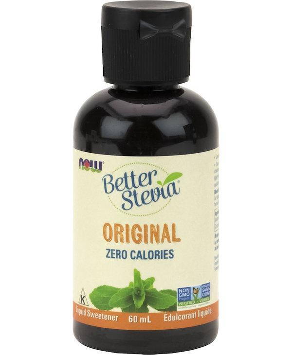 Now - BetterStevia - Liquid Sweetener - Original Unflavoured - 60mL