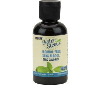 Now - BetterStevia - Liquid Sweetener - Glycerite Alcohol-Free - 60mL