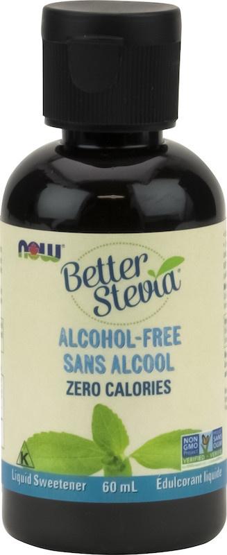 Now Now - BetterStevia - Liquid Sweetener - Glycerite Alcohol-Free - 60mL