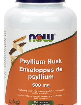 Now Now - Psyllium Husk 500mg - 200 Caps