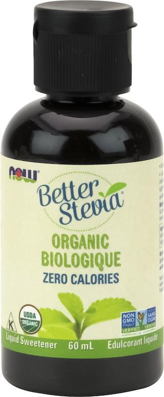 Now Now - BetterStevia - Liquid Sweetener - Organic - 60mL