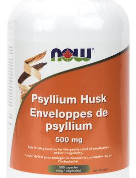 Now Now - Psyllium Husk 500mg - 500 Caps