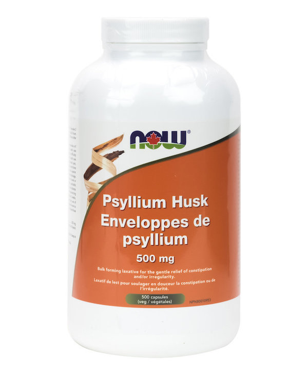 Now - Psyllium Husk 500mg - 500 Caps