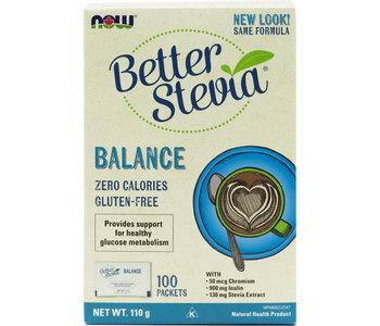 Now - BetterStevia - Balance w/ Inulin & Chromium - 100 Packets