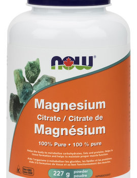 Now Now - Magnesium Citrate Powder - 227 g