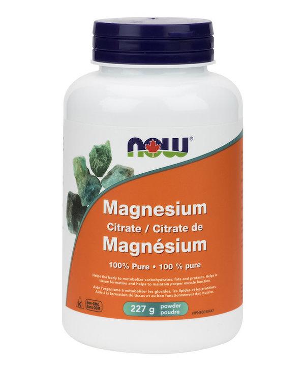 Now - Magnesium Citrate Powder - 227 g