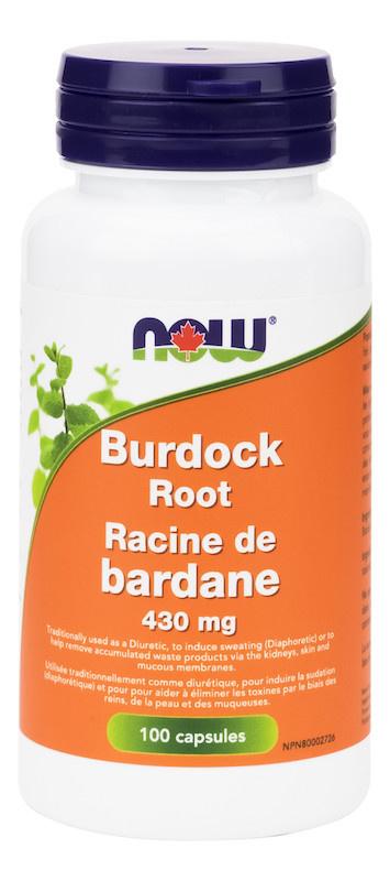 Now Now - Burdock Root 430mg - 100 Caps