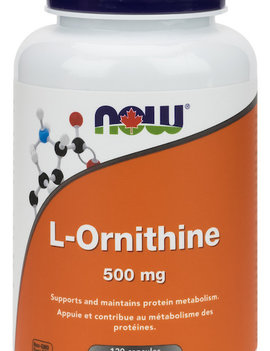 Now Now - L-Ornithine 500mg - 120 V-Caps