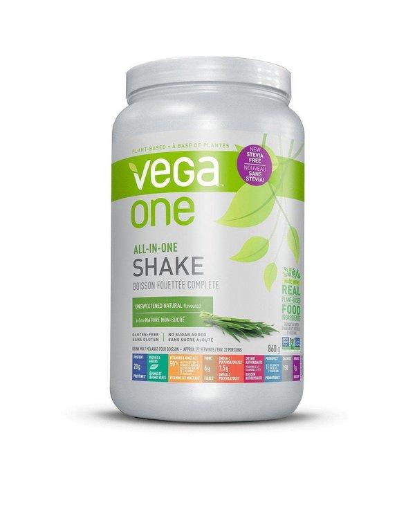 Vega - Vega One All-In-One Shake - Unsweetened Natural Stevia Free  - 860g
