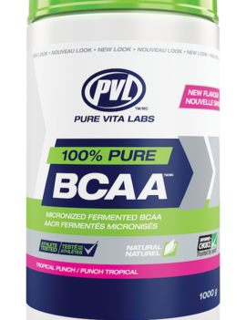 PVL - Pure Vita Labs PVL - 100% Pure BCAA - Tropical Punch - 315g